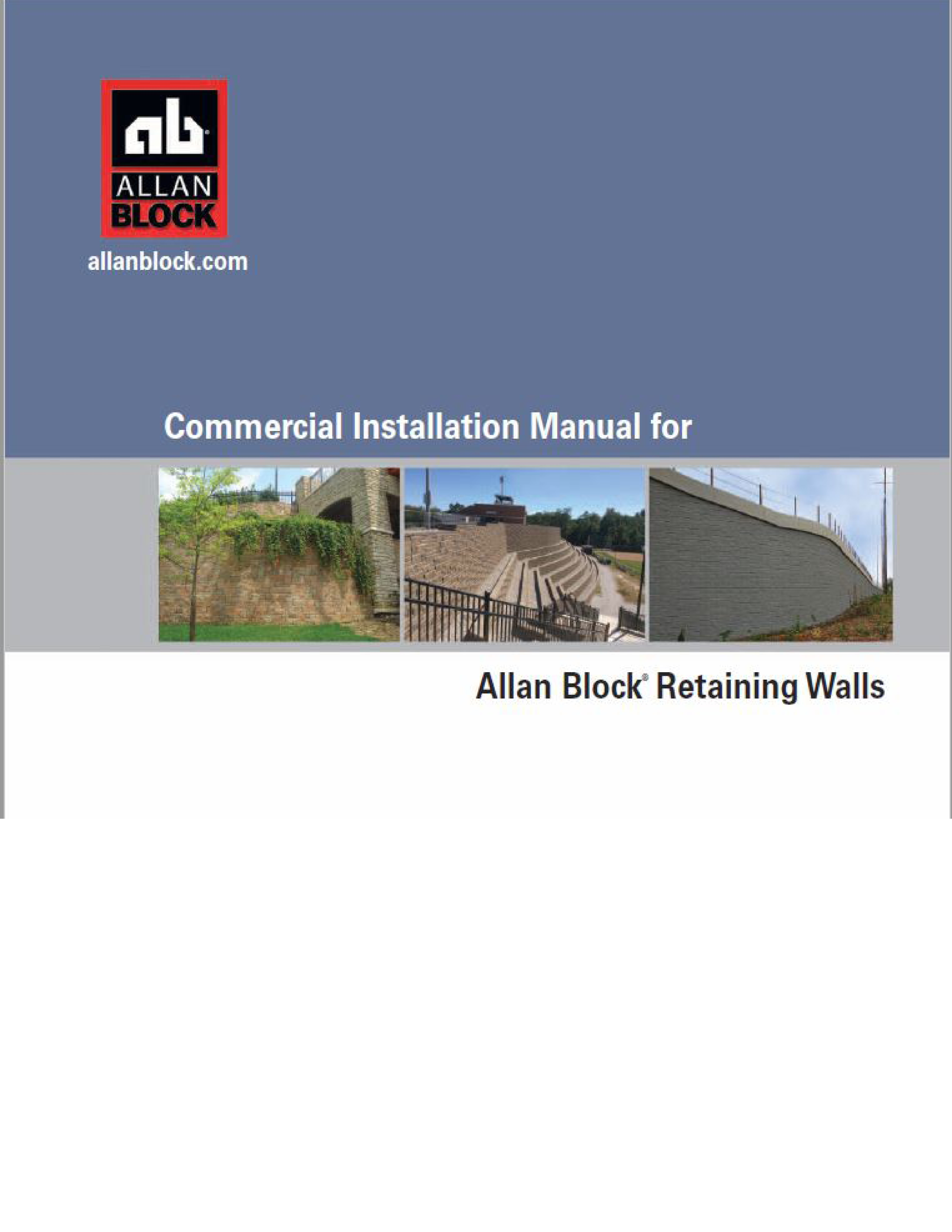 big block retaining wall installation manual big block inc
